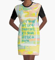 Painting and Poems Graphic T-Shirt Dress