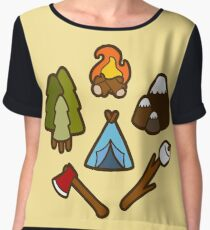 Camping is cool Chiffon Top