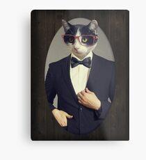 Tuxedo Cat in a Tuxedo Metal Print