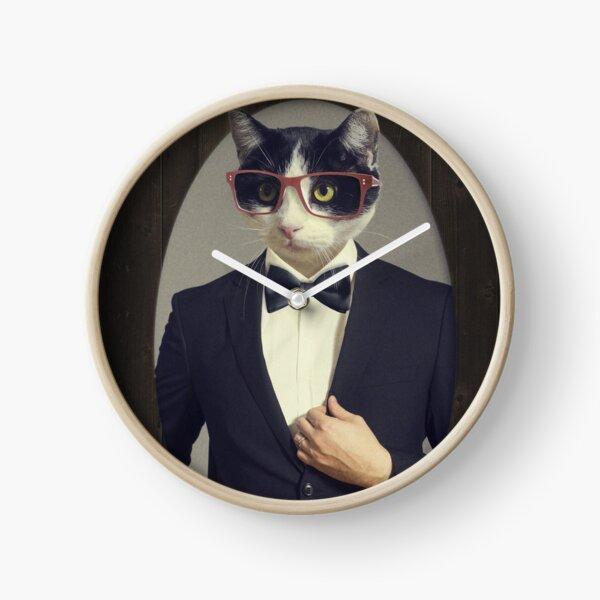Tuxedo Cat in a Tuxedo Clock