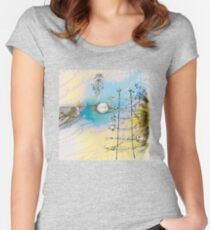 White Night Dream Women's Fitted Scoop T-Shirt