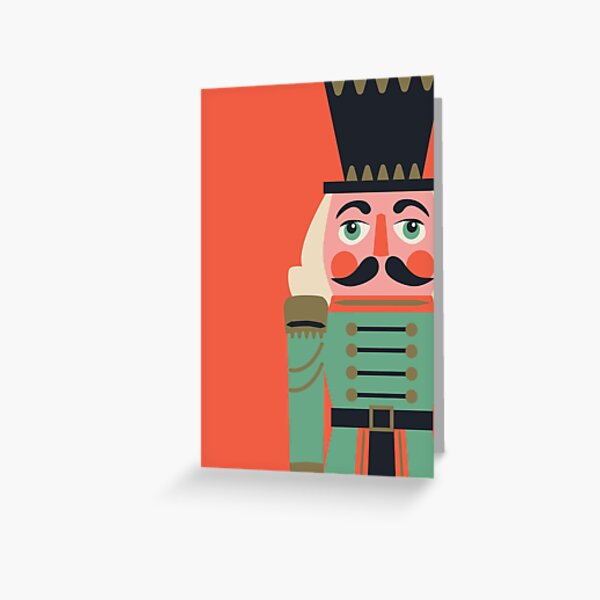 Nutcracker on red Greeting Card