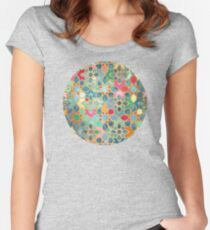 Gilt & Glory - Colorful Moroccan Mosaic Women's Fitted Scoop T-Shirt