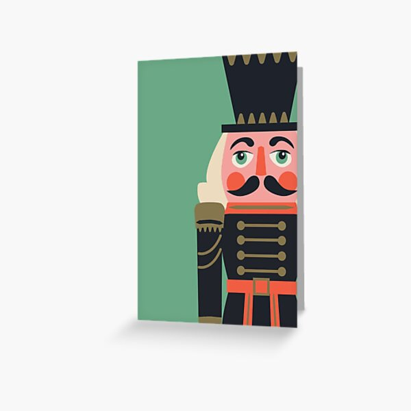 Nutcracker on green Greeting Card