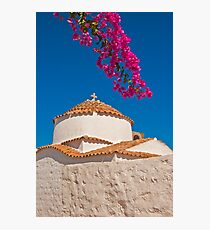 Chora, Patmos, Dodecanese Islands Photographic Print