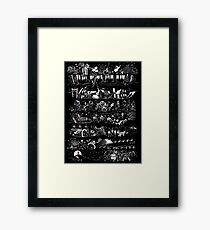 Nightmare sweater Framed Print