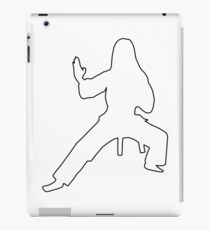 Karateka silhouette iPad Case/Skin