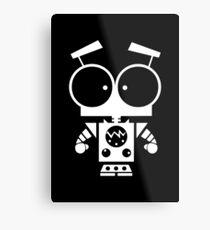 Cute Robot 8 White Metal Print