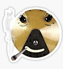 Smoking Fuzz Face Sticker