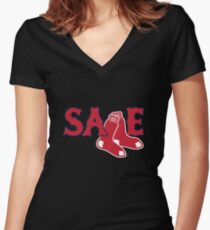 Chris Sale Red Sox Shirt Women's Fitted V-Neck T-Shirt