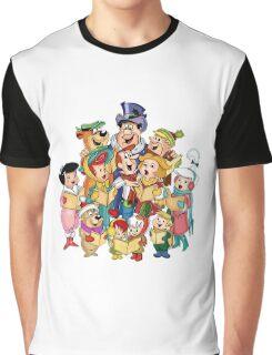 The Flintstones & The Jetsons Christmas  Graphic T-Shirt