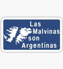 Las Malvinas Son Argentinas, Road Sign, Argentina Sticker