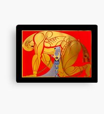 "Art Deco Design by Erte ""Sampson and Delilah"" Canvas Print"