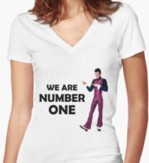 We Are Number One Women's Fitted V-Neck T-Shirt