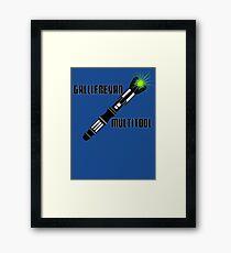 Dr Who - Gallifreyan MultiTool Framed Print