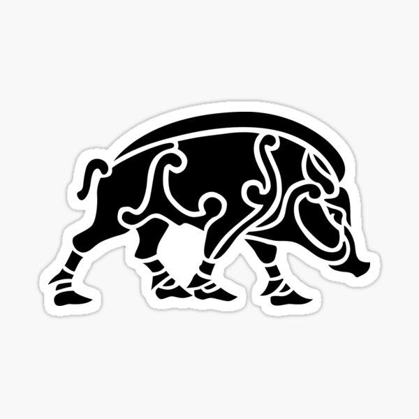 Norse Style Boar Sticker