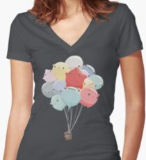 Balloon Animals Women's Fitted V-Neck T-Shirt