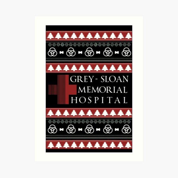 Grey Sloan Memorial Hospital Christmas T shirt  Lámina artística