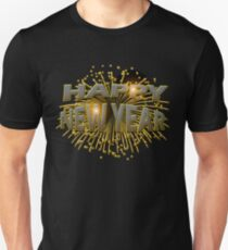 Happy New Year Unique Gold Fireworks New Years Eve T-Shirt Unisex T-Shirt
