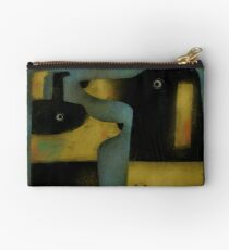 YELLOW AND BLACK HOUNDS Studio Pouch