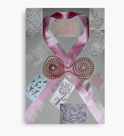 Pink Ribbons & Beads and the Art of Breast Cancer Treatment KazM Canvas Print