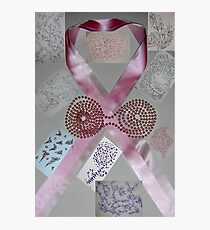 Pink Ribbons & Beads and the Art of Breast Cancer Treatment KazM Photographic Print