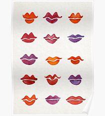 Watercolor Kisses Poster