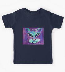 Mr. Fluffy - Cat Art by Valentina Miletic Kids Tee
