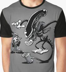 Vintage alien Graphic T-Shirt