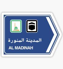 Medina, Road Sign, Saudi Arabia Sticker