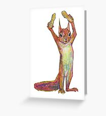 Nuts on blank background Greeting Card