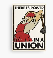 There Is Power in a Union (Vector Recreation) Canvas Print
