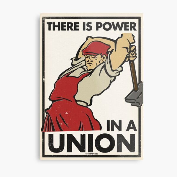 There Is Power in a Union (Vector Recreation) Metal Print