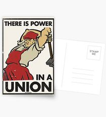 There Is Power in a Union (Vector Recreation) Postcards