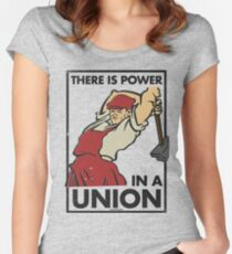There Is Power in a Union (Vector Recreation) Women's Fitted Scoop T-Shirt