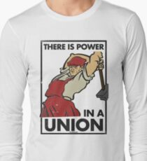 There Is Power in a Union (Vector Recreation) Long Sleeve T-Shirt