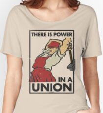 There Is Power in a Union (Vector Recreation) Women's Relaxed Fit T-Shirt