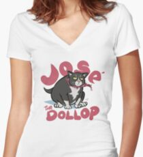DOLLOP - José Women's Fitted V-Neck T-Shirt