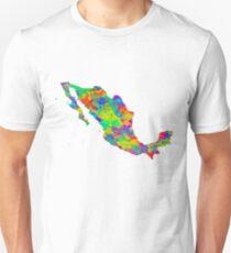 Mexico Watercolor Map T-Shirt
