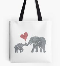 Elephant Hugs Tote Bag