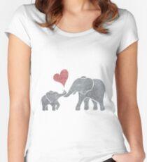 Elephant Hugs Women's Fitted Scoop T-Shirt
