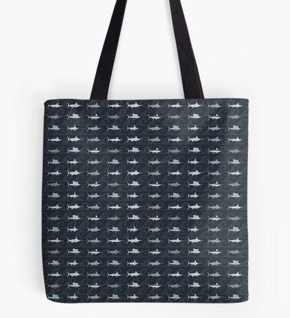 Compact Marlin Billfish Print / Montage Tote Bag