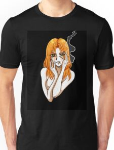 Claudia smoking - Girl with a cigarette Unisex T-Shirt