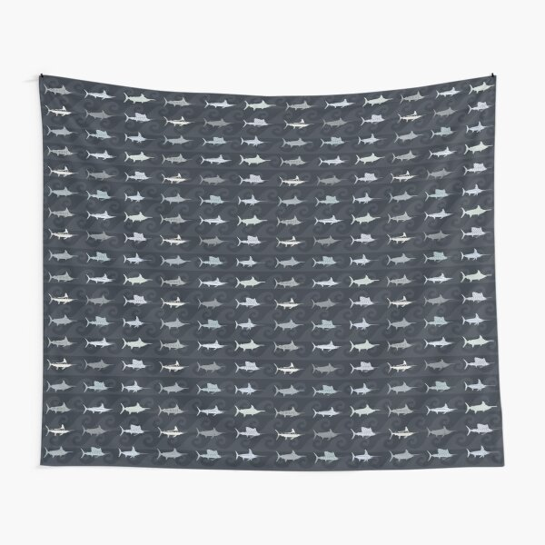 Compact Marlin Billfish Print / Montage Tapestry