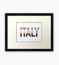 Italy Sticker Framed Print