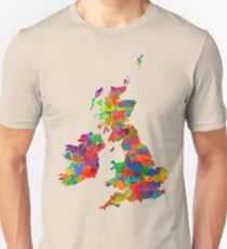 Great Britain Watercolor Map T-Shirt