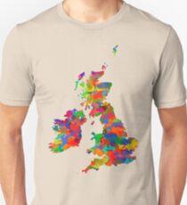 Great Britain Watercolor Map Slim Fit T-Shirt