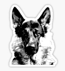 German Shepherd dog Sticker