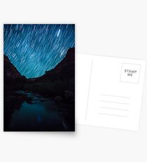 Star Trails Over Kolob Canyon Postcards