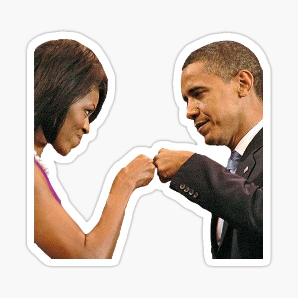 Michelle and Barack Fist Pump Sticker